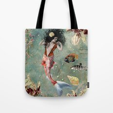 She lives in the deep blue sea. Tote Bag