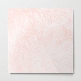 Pink Coral Fur Metal Print