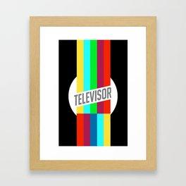 Televisor  Framed Art Print