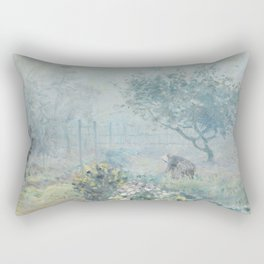 Alfred Sisley - Fog, Voisins, 1874 Rectangular Pillow