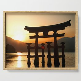 Itsukushima Shrine on Miyajima, Japan Serving Tray