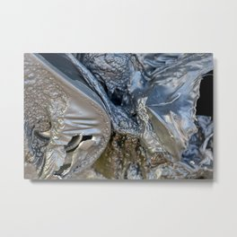 black plastic melts Metal Print