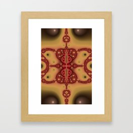 """Brickred"" Fractal Art Print Framed Art Print"