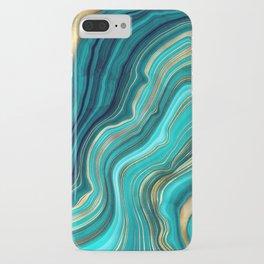 Watercolor Geode Green Agate Malachite iPhone Case