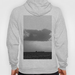 Evening clouds over the sea Hoody