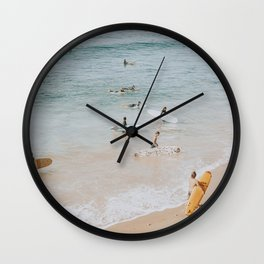 lets surf iii Wall Clock