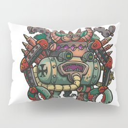 Old German robot Pillow Sham