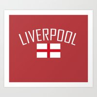 liverpool Art Prints featuring Liverpool by Earl of Grey