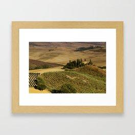 Val D'Orcia - Tuscany - Italy Framed Art Print