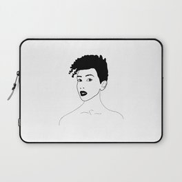 Simply black lady Laptop Sleeve
