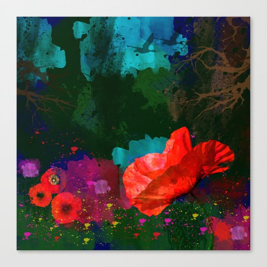 Poppies Summer Canvas Print