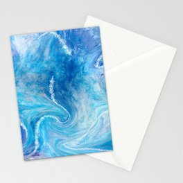 abstract blue ocean  Stationery Cards