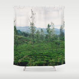 Tea Fields of Sri Lanka, View from the Ella to Kandy Train Shower Curtain