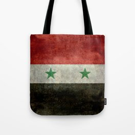Syrian national flag, vintage Tote Bag