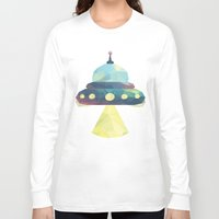 spaceship Long Sleeve T-shirts featuring Spaceship. by Dani Does Art