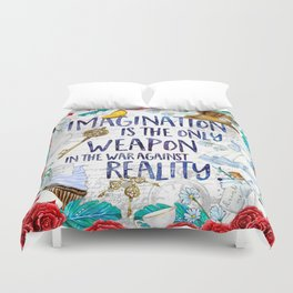 Alice in Wonderland - Imagination Duvet Cover