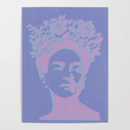 frida kahlo (purple version) Poster