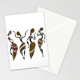 African Ladies Dancing Stationery Cards