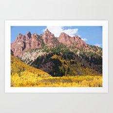 Autumn Gold and Maroon Art Print