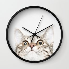 Kitten Portrait #painting Wall Clock