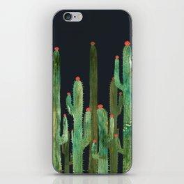Cactus Four at night iPhone Skin
