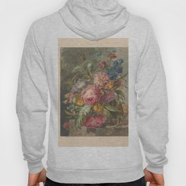 Still life with flowers, Jan Evert Morel (I), 1779 - 1808 Hoody