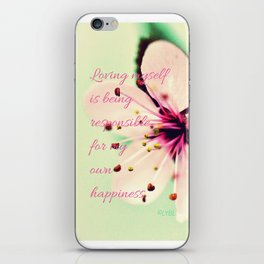 Love Yourself My Happiness iPhone Skin