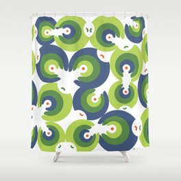 Mano Semilla/Hand Seed--Green Shower Curtain