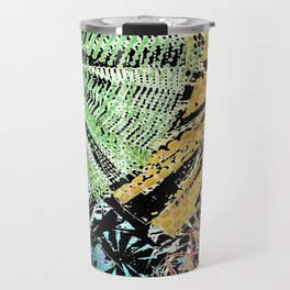 Tropical forest abstract digital painting Travel Mug