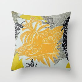 Modern Botanical Throw Pillow