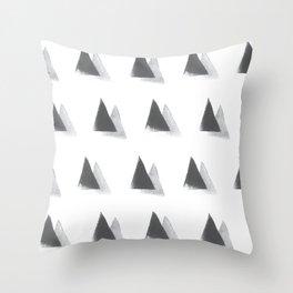 black and grey Throw Pillow
