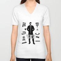 derek hale V-neck T-shirts featuring Derek Hale Quotes Teen Wolf by Alice Wieckowska
