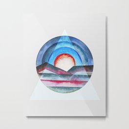 Geometric landscapes 03 Metal Print
