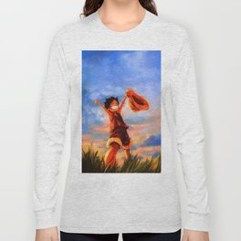 luffy happy Long Sleeve T-shirt