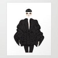 goth Art Prints featuring Elegant goth by \nicolafleming