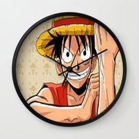 one piece Wall Clocks featuring One piece by Duitk