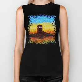 Time and Space Traveller Box in Twilight Zone Biker Tank