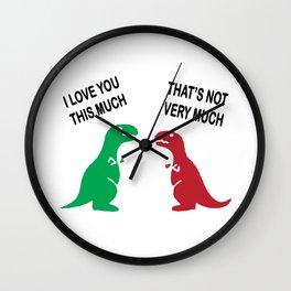 couple dino Wall Clock
