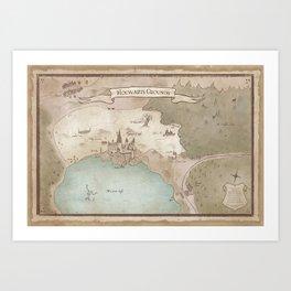 Map of Hogwarts Art Print