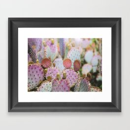 Cotton Candy Cacti Framed Art Print