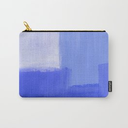 Abstract Minimal Painting - Blue texture Carry-All Pouch