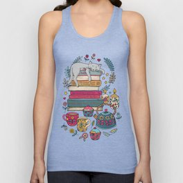 How to Hygge Like a Cat Unisex Tank Top