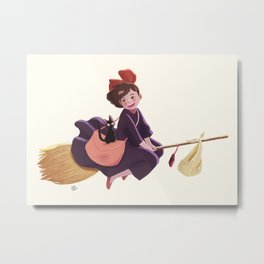 Kiki and Jiji Metal Print