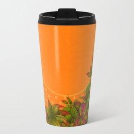 """Plants & Orange Polka Dots"" Travel Mug"