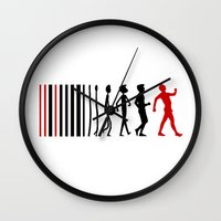 evolution Wall Clocks featuring Evolution by Artbox designs