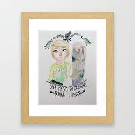 fangirl Framed Art Print