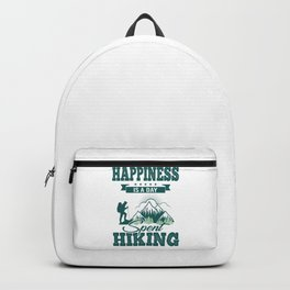 Happiness Is A Day Spent Hiking gr Backpack