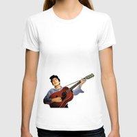 bob dylan T-shirts featuring Bob Dylan by Derek Donovan