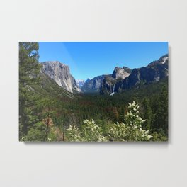 Bridal Veil Falls From Tunnel View Point - Yosemite Valley Metal Print