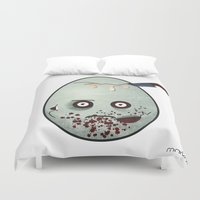 zombies Duvet Covers featuring Zombies by Marcos Lozano